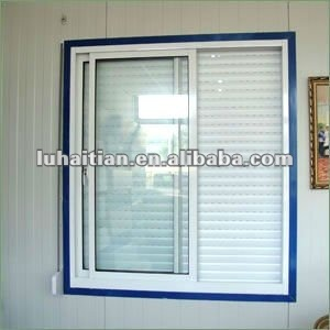 Energy saving aluminum rolling shutter windows with roller shutter exterior roll up hurricane for Roll up window shutters exterior