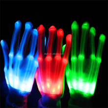 Wholesale Flashing LED flash Gloves for halloween stage Fiber optic light gloves