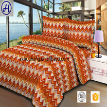 Factory wholesale printed textile polyester brushed bedsheet fabric