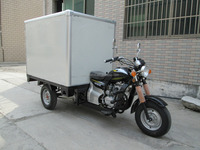 Big Power Motorized Three Wheel Trike Motorcycles With Closed Truck Box For Sale