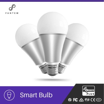 Fantem Moodlight app smart light bulb, 16 million color RGB + white 9w app rechargeable led emergency bulb, IOS/Android