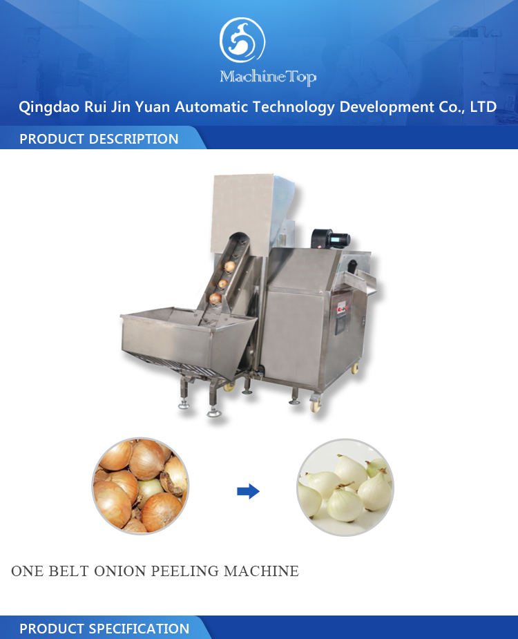 One belt onion peeling machine