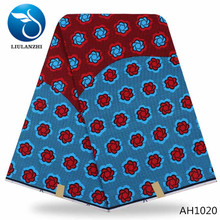 LIULANZHI africa wax fabrics High quality ankara real wax fabric 100%Cotton veritable wax AH1016-AH1023