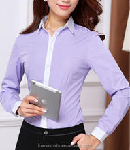 Office lady dress shirts bank hotel work uniform shirts blouse