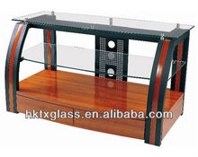 CE Approved Store Toughened Glass Display Rack /Tempered Glass Cake Display