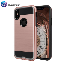 For iphone x phone case hard cover, two in one hard pc silicone brushed armor phone case for iphone 6 7 8 plus