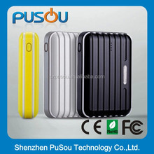Luggage style 9000mah universal external portable mobile power bank for phone and tabets
