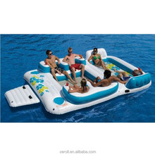 Adults water entertainment lounge inflatable island
