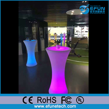 remote control rechargeable rgb color changing illuminated spandex highboy cocktail tables led shinning table