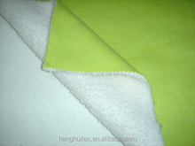 100% polyester bonded coral fleece fabric