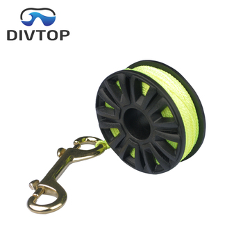 2018 Cave & Wreck Diving Finger Spool Reel (75') with Double Ended Brass Bolt Snap