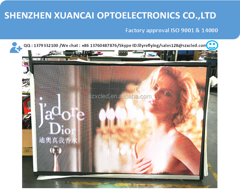 P6 RGB dimension 30''x60'' LED full color single side video display screen
