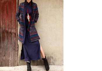 6Chinese style, nature , typical Han Chinese robes , oriental beauty ,linen-cotton blended yarn long shirt dress