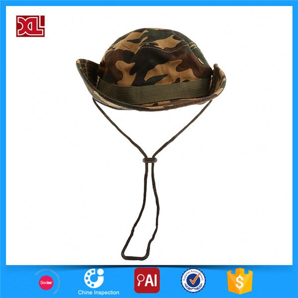 Latest product fashionable promotional printed cotton bucket hat fast delivery