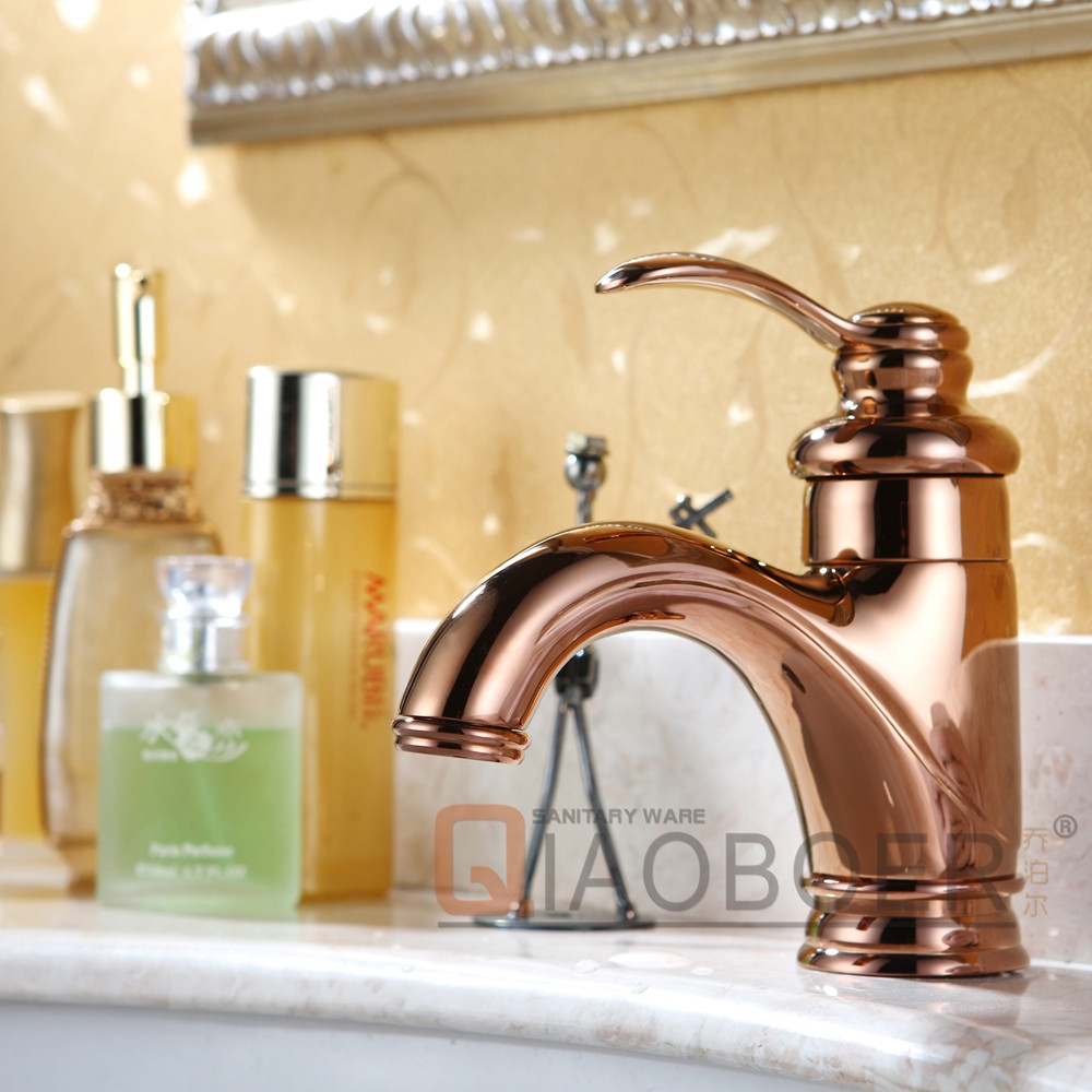 China faucet factory rose gold luxury brass american copper bathroom basin faucet