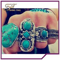 ally express hot selling natural big turquoise ring online