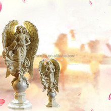 customized love angel home decor resin figure/oem own design resin figure sculpture/custom high quality resin figure factory