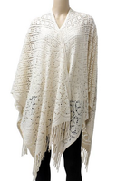 Blanket Open Front Poncho Ruana Knit Cardigan Sweater Shawl Cape Wrap