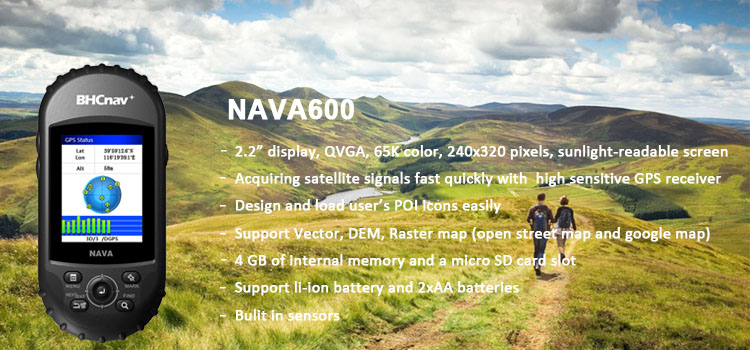 China BHCnav Differential GPS NAVA600 Handheld GPS Receiver
