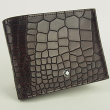 Fashion crocodile pattern handmade vintage leather <strong>wallet</strong>