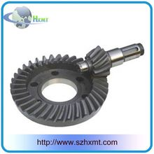 Bevel gears of reverse device and rear axle for tricycle crown wheel and pinion