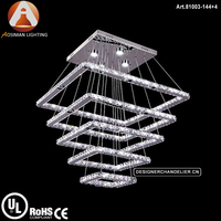Square Shape LED Stairwell Chandelier