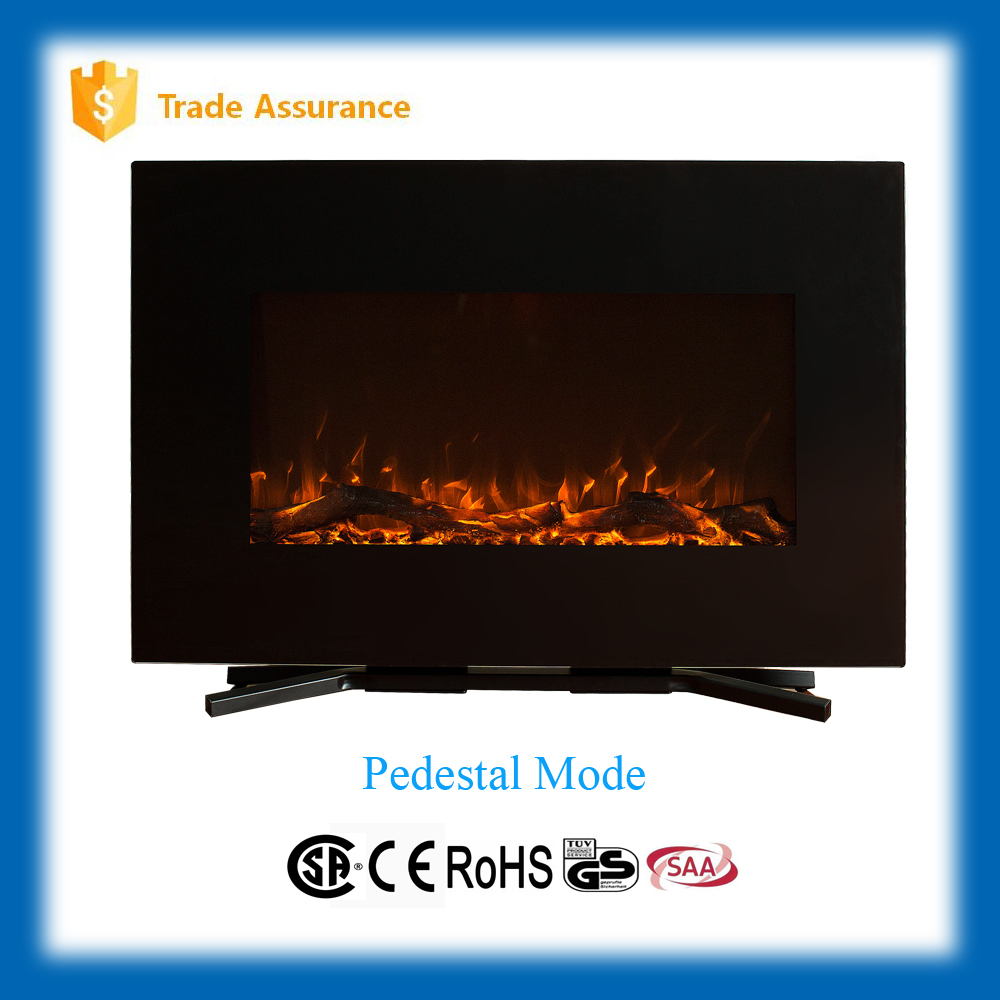 "36"" decorative wall mount LED electric fireplace heater"