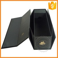 Custom printed recyclable cardboard display red wine boxes