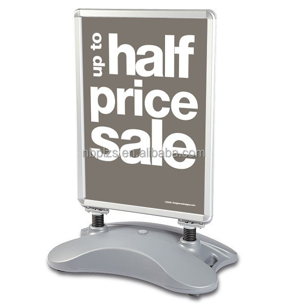 Aluminum outdoor water base pavement sign 32mm snap frame poster stand,water base a board sign 20x30