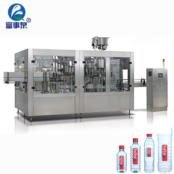 Factory direct sale automatic pure bottle packaging 3-in-1 water filling plant