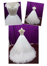 Wholesale Appliqued Lace Wedding Dress Latest Gown Designs