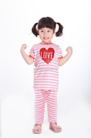 2016 baby girl summer set zigzag printing girls boutique lovely clothing sets