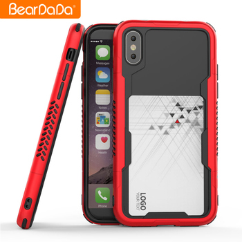 Newest Design shockproof bumper case cover for iphone 10,for iphone x case card slot