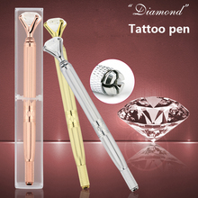Eyebrow Manual Pen Microblading Tattoo Machine For Permanent Makeup 3D Eyebrow Lip Embroidery Munsu Tebori With Crystal Diamond