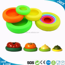 Hot sale Reusable Storage Container Cover Set of 4 Silicone Food Saver vacuum OEM producer