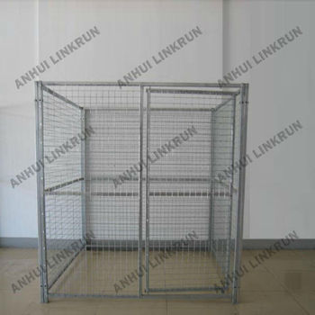 Galvanized dog kennel