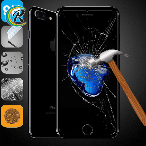 Paypal accept anti glare mobile phone screen protector guard film for apple iPhone7 toughened glass guard