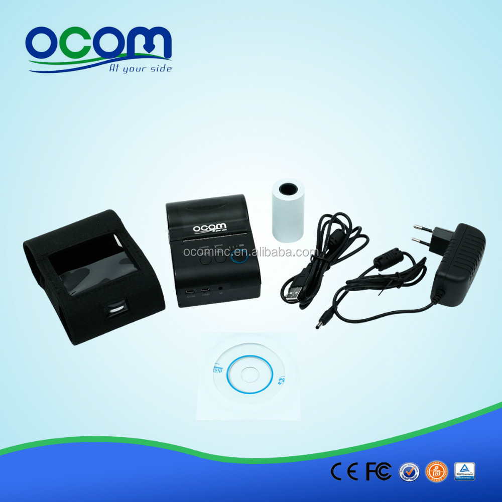 OCPP-M03 Compatible With Android iPhone Java Windows 58MM Portable Mobile Thermal Printer Bluetooth+USB+RS232