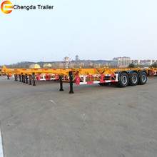 ccc iso certificate,China manufacturer,flatbed trailer frame with 12pcs container locks