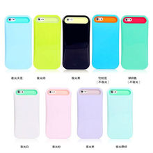 luminous Fluorescent back cover case pc silicone for iphone 5 5""