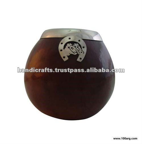 MATE GOURD WITH METAL EDGE