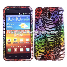 Decal water printing Leopard Design Case For Samsung Galaxy S II Epic 4G SPH-D710 snap on design case