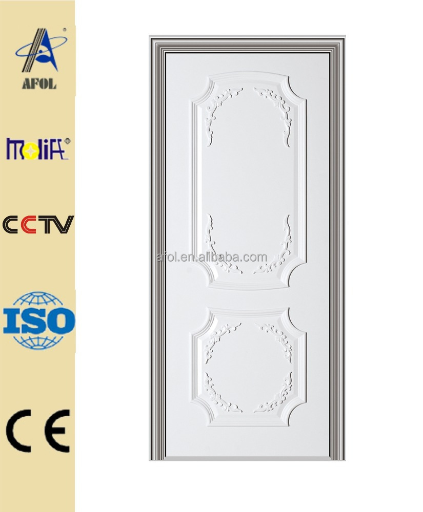 China luxury solid wood composite single door white finish