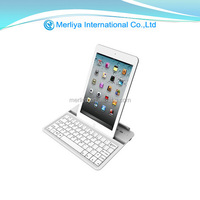 Aluminum /leather Wireless Bluetooth Keypad For Ipad Mini