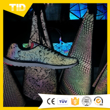 Colorful reflective shoes/reflective tissue fabric
