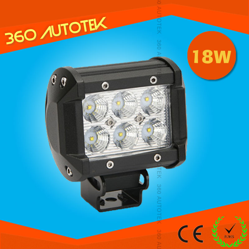 led lighting,12v IP68 18w auto truck tractor bicycle led work light bar