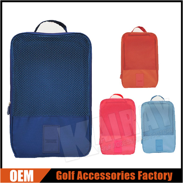 Custom Polyester & Mesh Golf Shoes Bags Net Pouches