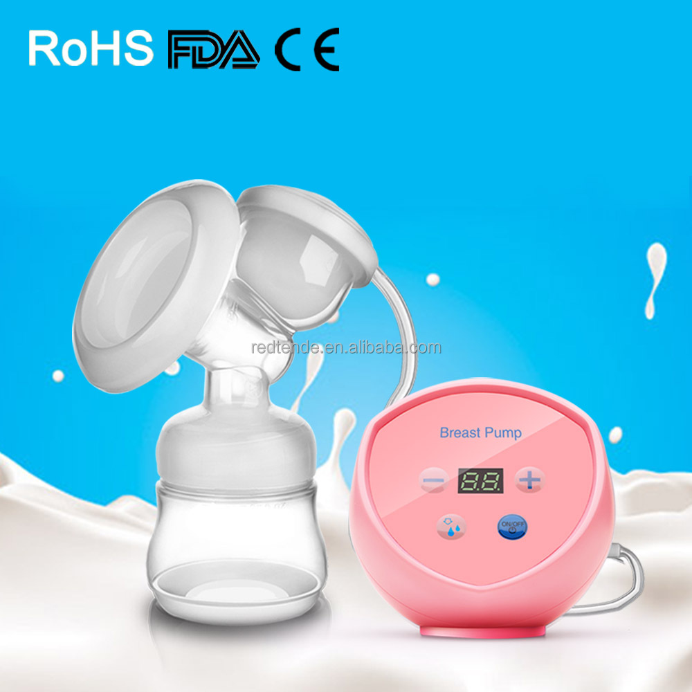2017 China hot electric breast pump PP material breast pump suction large medela milk set milk