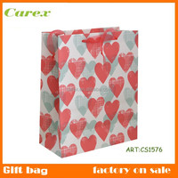 fancy paper gift bag with handles,christmas paper bag for gift,customized paper gift bag