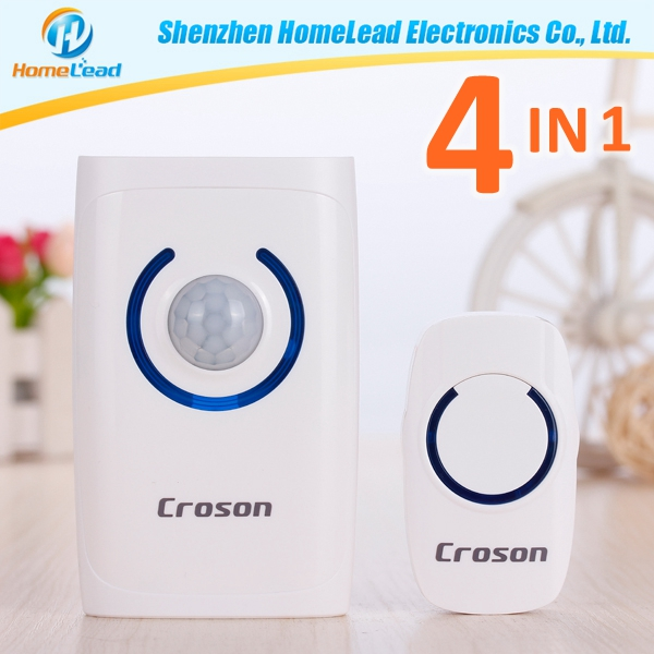 Flame retardant shell, precision parts, adjustable volume Alarm wireless doorbell